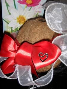 кокосовая коробочка подарок