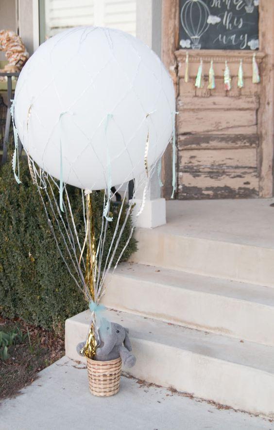 воздушный шар, - декор на бейби шауэр
