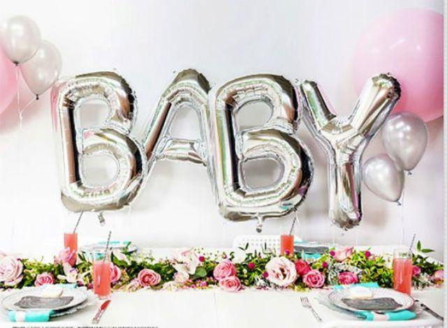 Серебристая надпись BABY