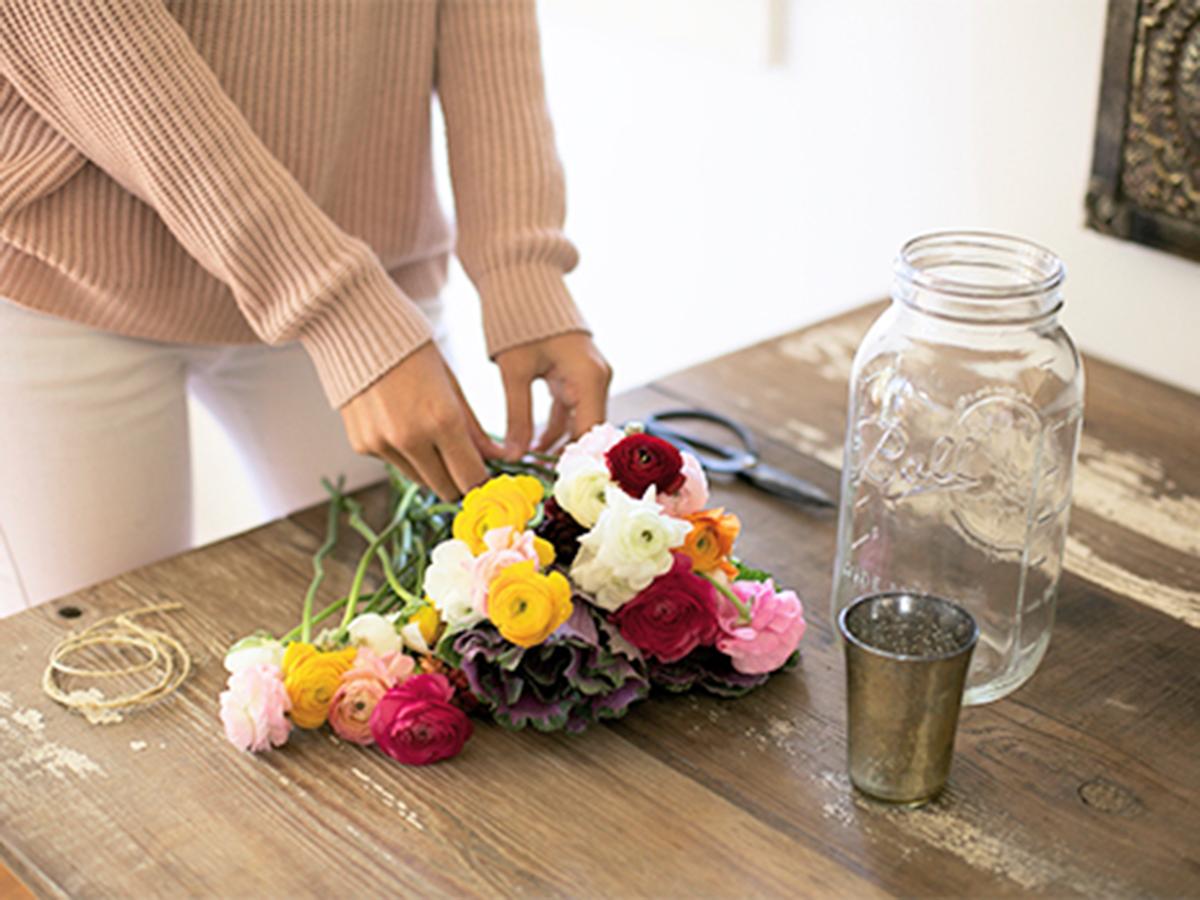 букет цветов для нее