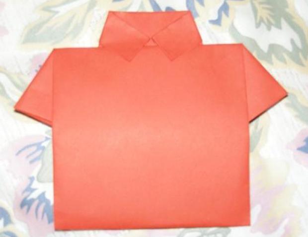 рубашка открытка конверт