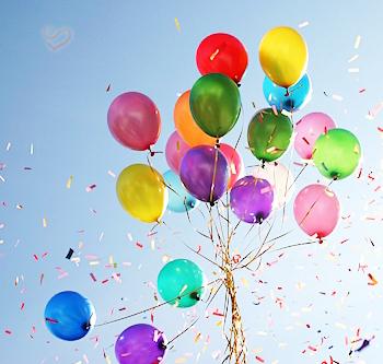 подарок на воздушных шарах
