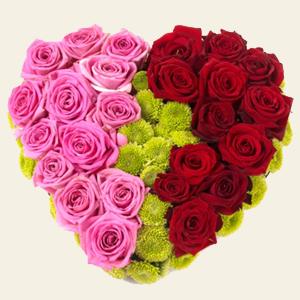 сердце с роз