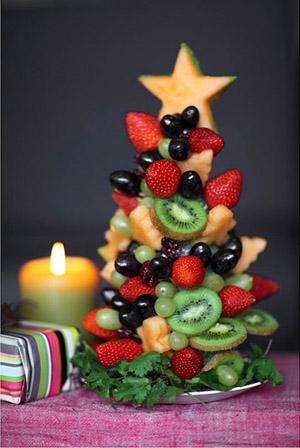 новогоднее украшение елочка с фруктов