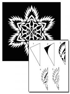 снежинка с бумаги