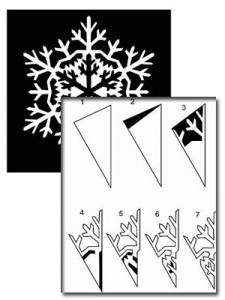 снежинка красивая схема