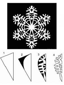 схема для снежинки