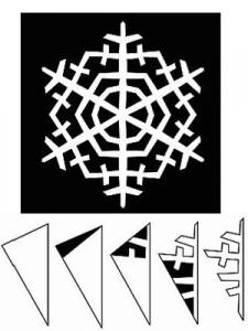 снежинка простая схема