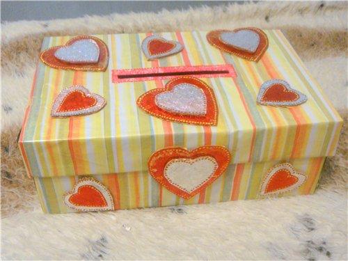коробка с подарком копилка