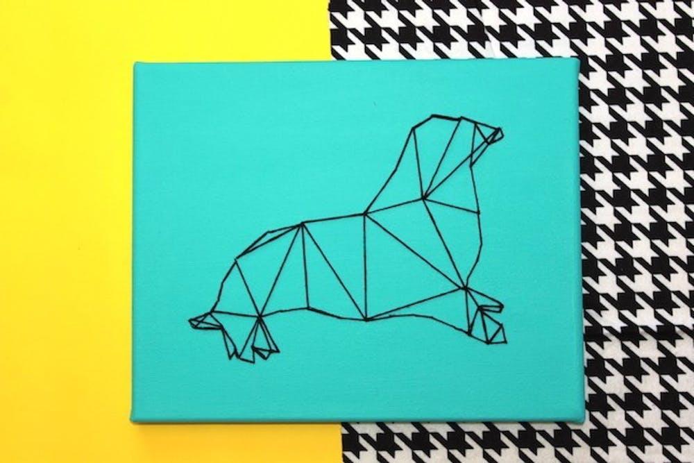 картинка геометрические животные