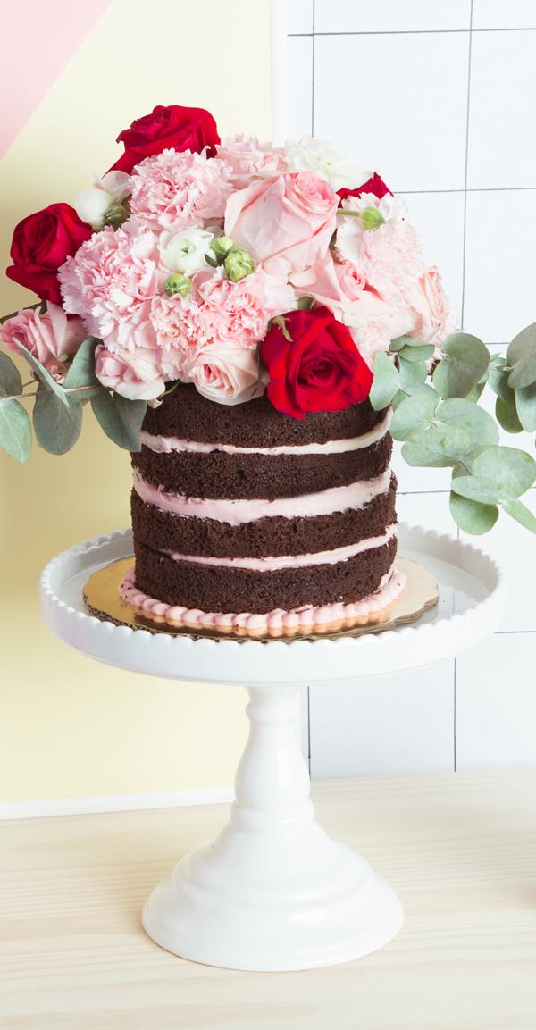 тортик с цветами