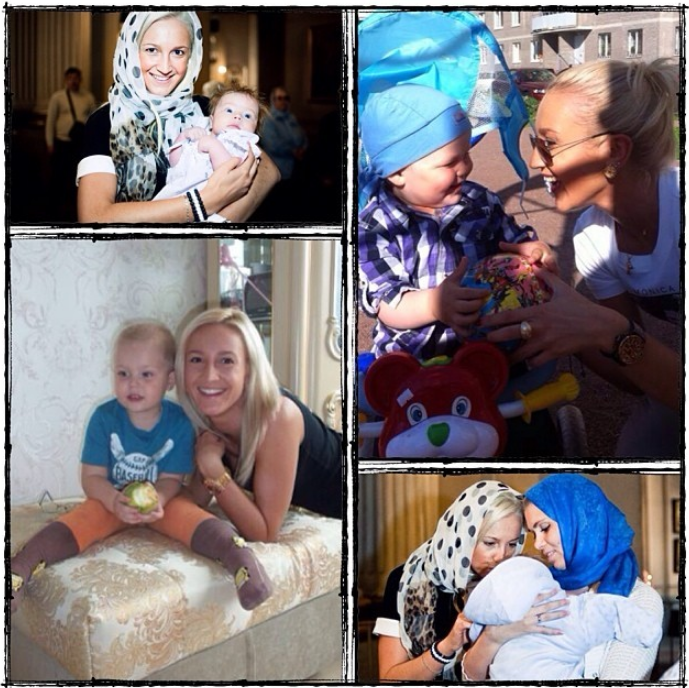 Ольга Десятовская с бузовой и сыном